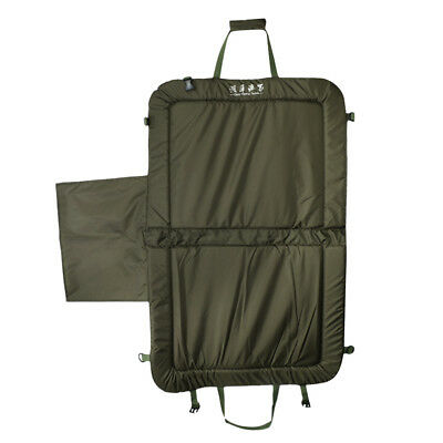 Foldable Unhooking Mat Fish Protection Fold Over Straps Pad Army Green