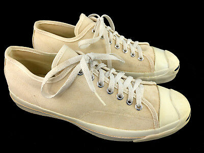 VTG Converse Jack Purcell Canvas Sneakers Mens 10 USA Made Low Top Shoes 70s 80s