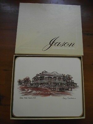 Set of 6 Jason Cork-Back Place-Mats: Australian Hotels