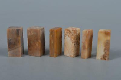 M4123: Chinese Stone Chop stamp material SEALS Bundle sale Calligraphy tool.
