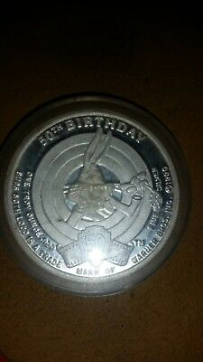 1990 Warner Brothers 50th Anniversary Bugs Bunny Coin 1-ounce Silver