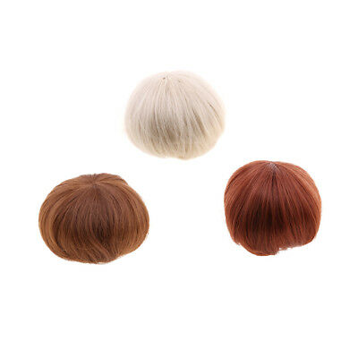 Beautiful High-temperature Short Straight Hair Wig for 1/3 Barbie BJD Doll