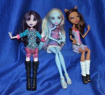 Monster High Dolls - All By Mattel - Lot of 3 -