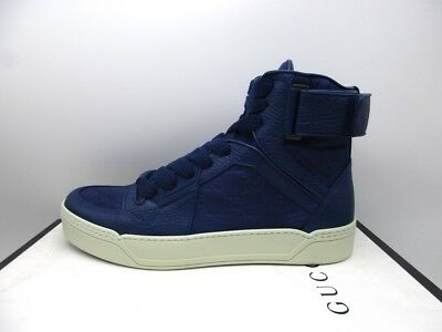 546b5776a25 GUCCI MENS TIDE Blue Leather High Top Sneakers Shoes 9 G -  349.99 ...