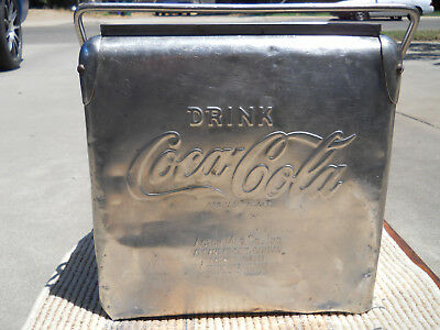 Stainless Steel Coca Cola Cooler Ice Chest Action Manufacturing Made in USA