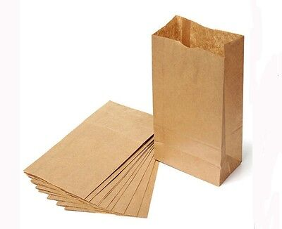 10 Pcs Small Kraft Paper Gift Bags Food Carrier Bags Supplies Brown Paper Bags