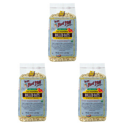 3X New Bob's Red Mill Organic Old Fashioned Rolled Oat Body Health Food Grocerie
