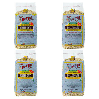 4X New Bob's Red Mill Organic Old Fashioned Rolled Oat Body Health Food Grocerie