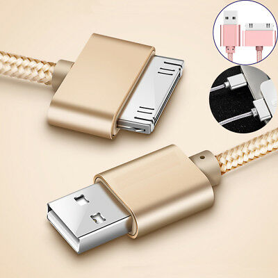 Data Sync Charger Cable Cord Metal USB For Apple iPhone 4 4S iPad 2 3 Nano