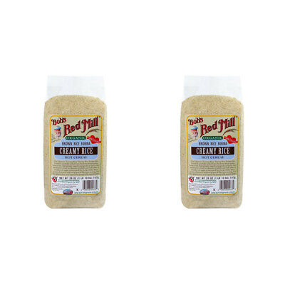 2X New Bob's Red Mill Organic Brown Rice Farina Creamy Rice Hot Cereal Breakfast