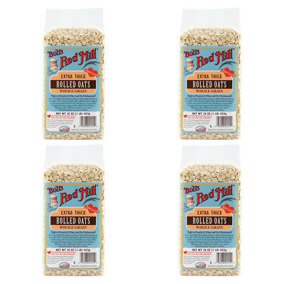 4X Bob's Red Mill Extra Chick Whole Grain Rolled Oat Body Health Food Groceries