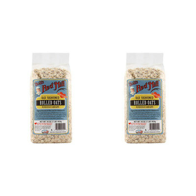 2X Bob's Red Mill Old Fashioned Rolled Oats Whole Grain Cereals Breakfast Food