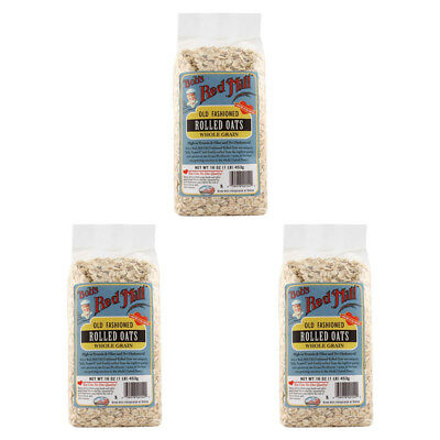 3X Bob's Red Mill Old Fashioned Rolled Oats Whole Grain Cereals Breakfast Food