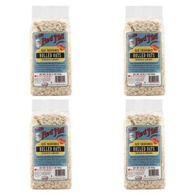 4X Bob's Red Mill Old Fashioned Rolled Oats Whole Grain Cereals Breakfast Food