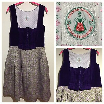 60s Vintage Krüger Dirndl 10 Dress Berchtesgaden German Oktoberfest Waitress
