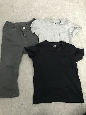 Childens H&M 9-12 Months T Shirt And Trousers Bundle