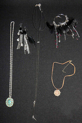 LOT of Costume Boho Jewelry Hippie like Antique, Vintage Necklace Earrings