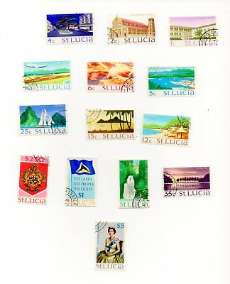 St.lucia Set Of Fine Used Stamps