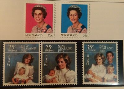 N. Zealand 1985 Her Majesty the Queen and Health Stamps set  MUH h4