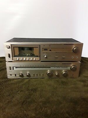 Marantz stereo reciver & cassette deck in good condition