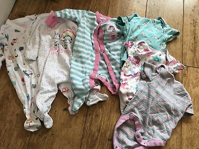 Girls Next Baby-grows And Vests Unicorn Design Age Up To 1month