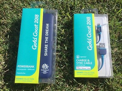 GC2018 Commonwealth Games Official PORTABLE iPHONE iPAD POWERBANK & CHARGER!