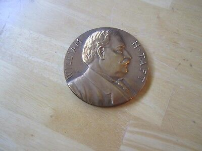 U.S. President William H. Taft Inaugurated March 4, 1909 Large Bronze MEDAL