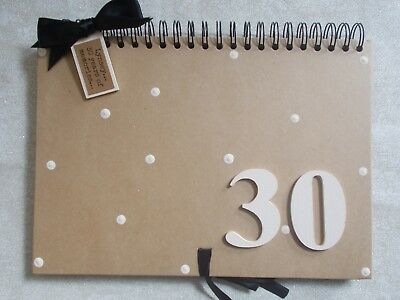 Personalised Handmade A4 30th Birthday Guest Book Scrapbook Multi Use QUICK POST