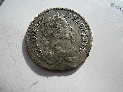 RARE !!  Charles II Maundy Four Pence Silver 1679