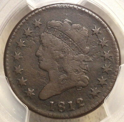 1812 Classic Head Large Cent, Large Date, Very Fine PCGS Cert, Scarce Type Coin