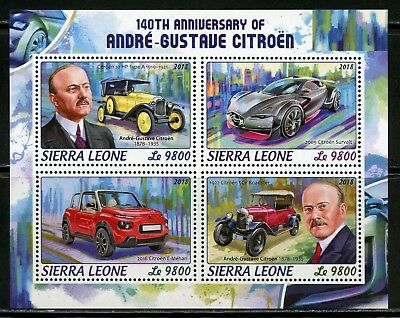SIERRA LEONE 2018 140th BIRTH ANNIVERSARY OF ANDRE GUSTAVE CITROEN  SHT  MINT NH