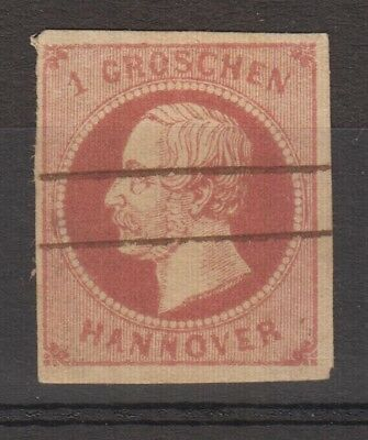 Hannover - 1859 1 groschen michel n.14 Used