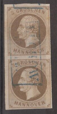Hannover - 1861 3 groschen michel n.19 used paper rose?