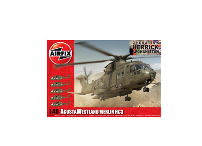 New Airfix Augusta Westland Merlin Helicopters Scale Model Buildable Collectible