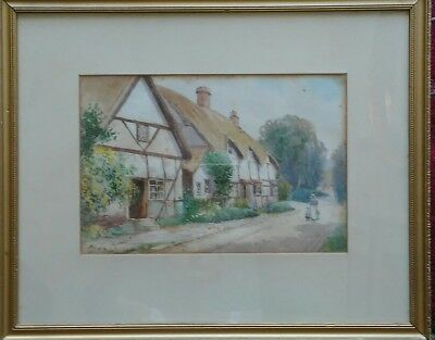Beautiful Victorian British Watercolor By William Outhwaite 1867 Listed Artist