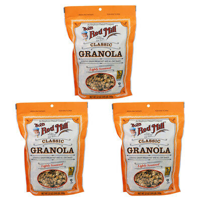 3X Bob's Red Mill Granola Natural Whole Grain No Fat Cereal Breakfast Lunch