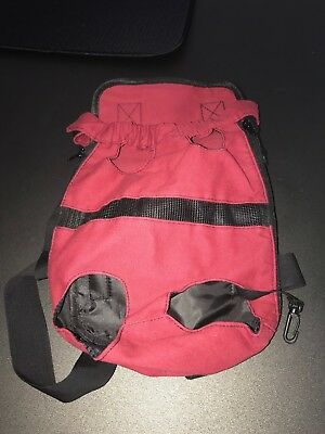 Dog backpack-style carrier red nylon Large up to 5.5kg/12lb BNWOT