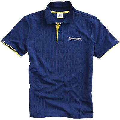 Husqvarna Genuine Merchandise Classic Polo Shirt Motorcycle Bike Casual Wear