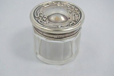 VINTAGE Theodore W. Foster & Bro. STERLING SILVER Glass Spice Container