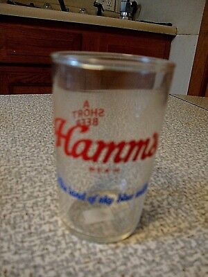 Vintage Hamm's Short Beer Glass 3 1/2 Inch Land of Sky Blue Waters #6