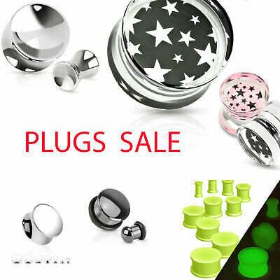 Plug Sale Acryl Metall Silikon O-Ring Piercing Ohr Flesh Tunnel verschiedene Art