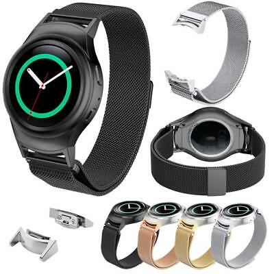 Milanese Magnetic Stainless Steel Band with Connector For Samsung Gear S2 RM-720