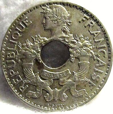 1938 French Indochina 5 Cents ~ KM# 18