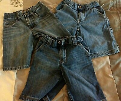 Lot of 3 pairs of boys shorts Jean cargo size 6 Lee Sonoma