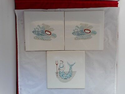 THREE PILKINGTON ENGLAND CERAMIC TILES(15.25x15.25cms)