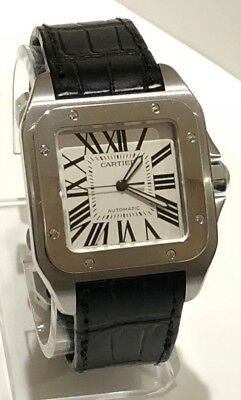 106c0f8209e Cartier Santos 100 Large Ref. W20073X8 Stainless Steel Automatic Black Band