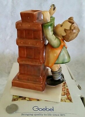 """Hummel Goebel """" LITTLE THRIFTY """" #118  signed W/ KEY & COIN Bank FIGURINE IN BOX"""