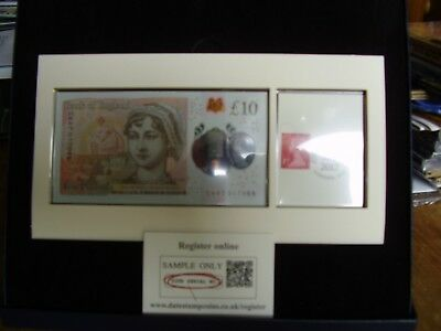 THE UK's FIRST POLYMER £10 BANKNOTE DATE STAMP ISSUE IN PRESENTATION BOX