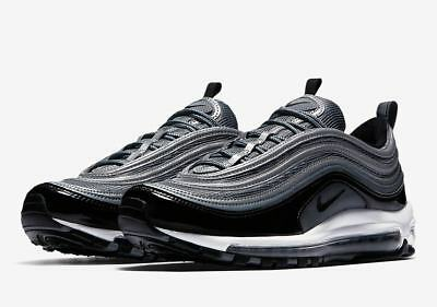 on sale 6674e e09dc nike Air Max 97 Patent Leather BLACK GREY US MENS SIZES 921826-010