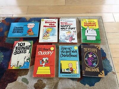 Peanuts Charlie Brown Snoopy Dennis the Menace 8 Vintage Comic Lot Free Shipping